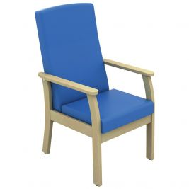 Atlas Patient Mid Back Arm Chair Anti-Bac Vinyl