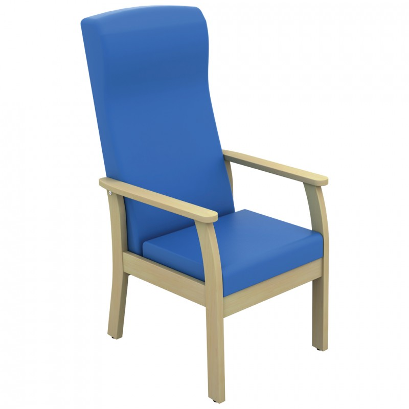 Atlas patient high back arm chair anti bacterial vinyl - Bac a vinyl ...