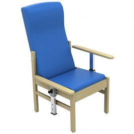Atlas Patient High Back Arm Chair with Drop Arms Anti-Bac Vinyl