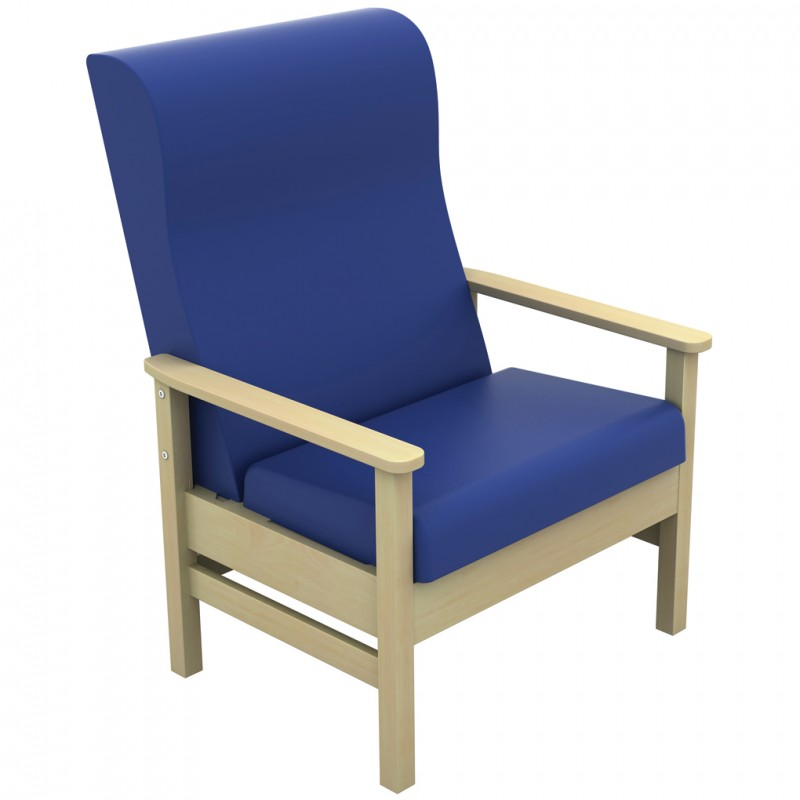 atlas bariatric high back arm chair anti bacterial vinyl upholstery. Black Bedroom Furniture Sets. Home Design Ideas