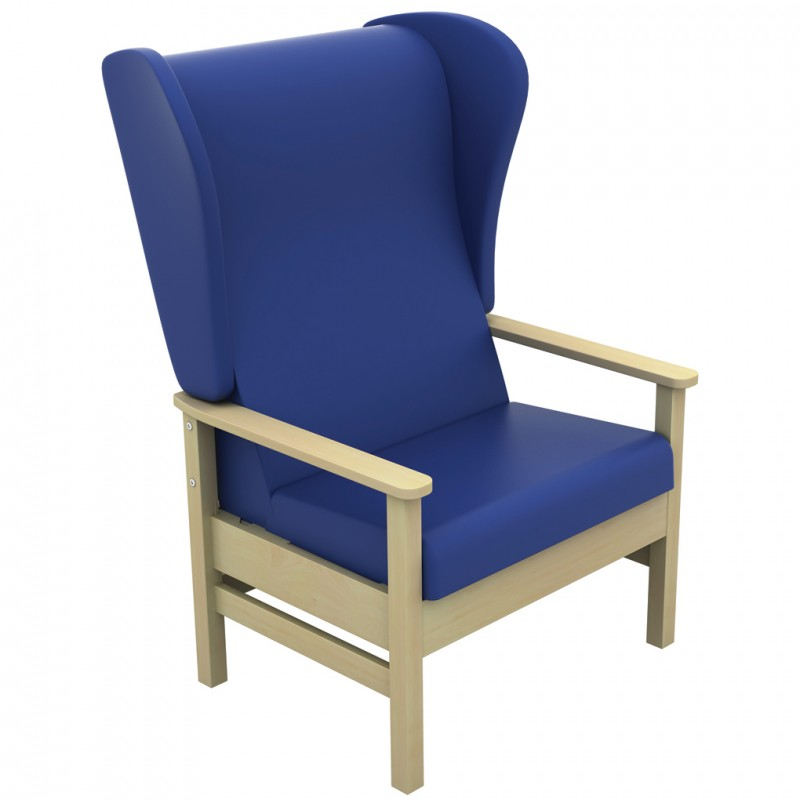 Bariatric Armchairs: Atlas Bariatric High-Back Arm Chair With Wings (Inter/Vene