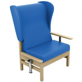 Atlas Bariatric High Back Chair with Wings and Drop Arms Anti-Bac Vinyl