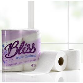 Bliss Toilet Roll 3ply 10x4