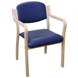 Aurora Easy Access Visitor Chair Anti-Bac Vinyl