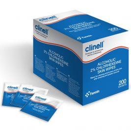 Clinell Alcoholic 2% Chlorhexidine Skin Wipes 1x200