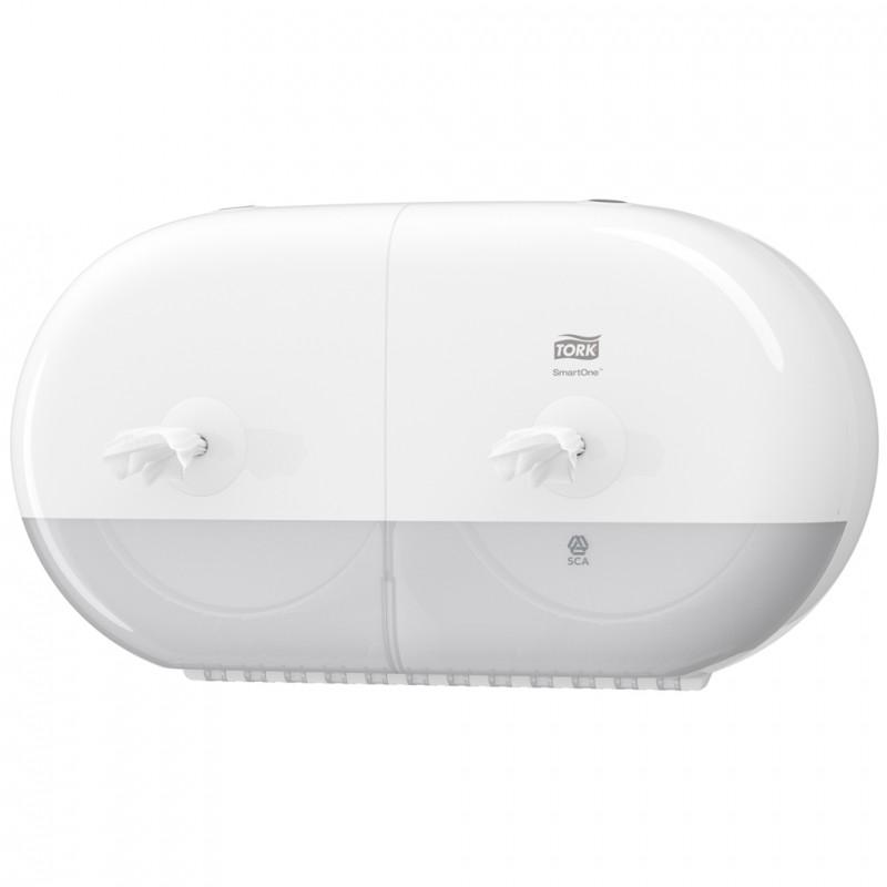 Tork Smartone 174 Twin Mini Toilet Roll Dispenser White