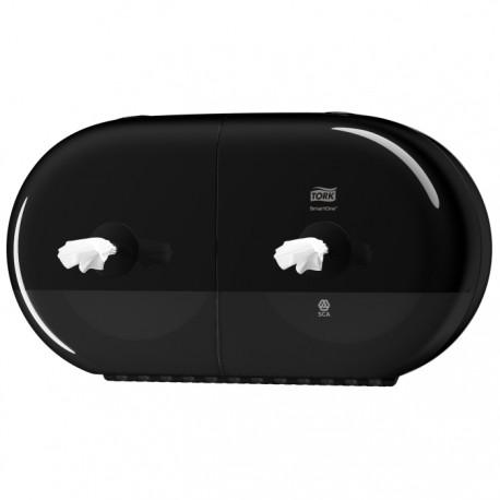 Tork Smartone 174 Twin Mini Toilet Roll Dispenser Black