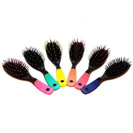 Cushioned Hair Brush Assorted Colours 1x12