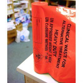 Heavy Duty Clinical Waste Bag Orange 1x25