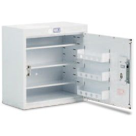 Drug Cabinet 1 Door Std Shelves W/o Light 60x30x90cm