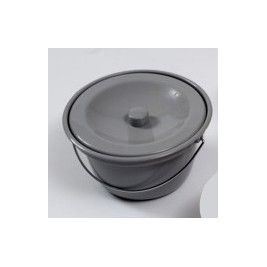 ROUND COMMODE BOWL GREY