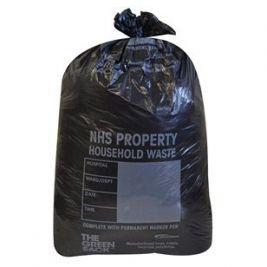 Black Household Waste Sack 1x75