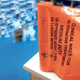 Medium Duty Clinical Waste Bag Orange 1x50