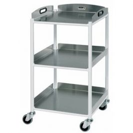 Dt4 Dressing Trolley W/ 3 Stainless Steel Trays