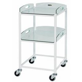 Dt4 Dressing Trolley W/ 2 Glass Effect Safety Trays