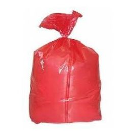 SOLUBLE LAUNDRY BAG RED 660X840MM 1X25
