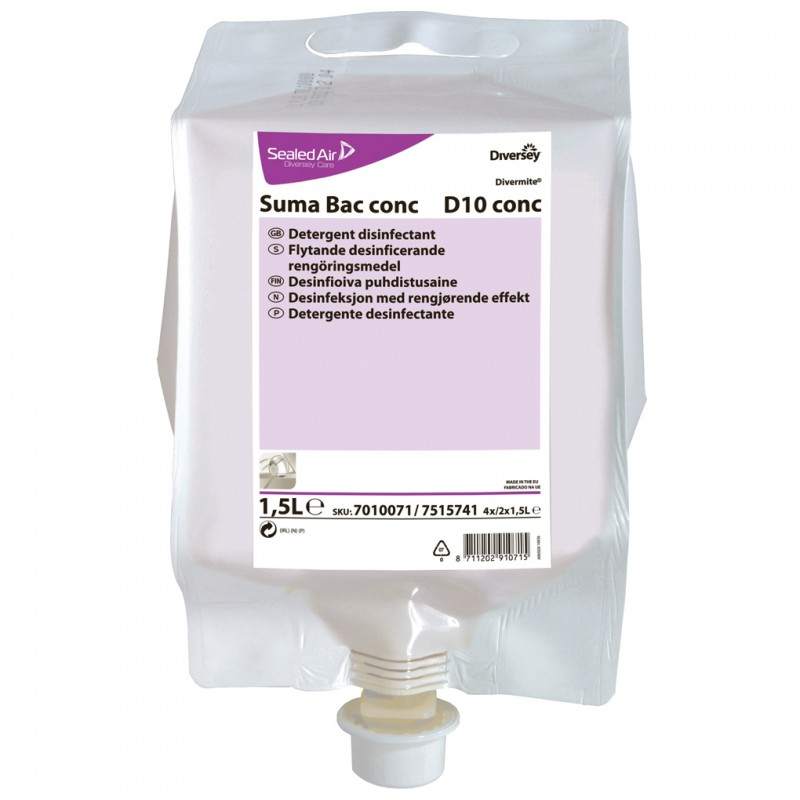 Suma D10 Super Concentrated Detergent Refill 1 5 Litre