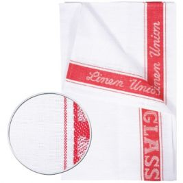 Linen Union Glass Cloth Red 10x10