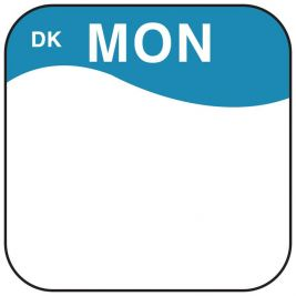 Daymark Label Monday 1.9cm 1x1000