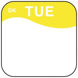 Daymark Label Tuesday 1.9cm 1x1000