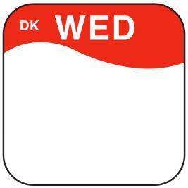 Daymark Label Wednesday 1.9cm 1x1000