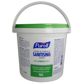 PURELL Hand and Surface Sanitising Wipes Bucket 6x225