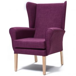 Morley Chair Fabric With Wings - Express Delivery