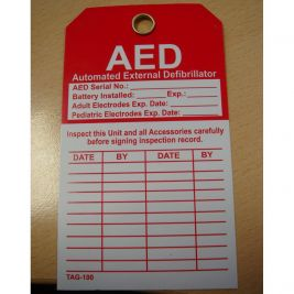 Lifeline AED Inspection Tag