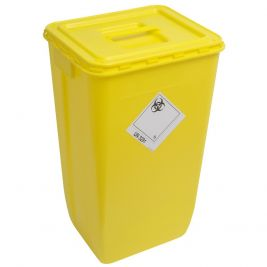 Wiva Container 60 Litre Yellow Solid Lid