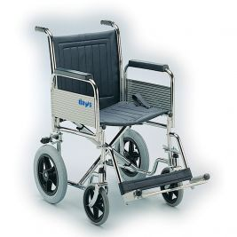 Extra Heavy-Duty Car Transit Wheelchair with Fixed Back