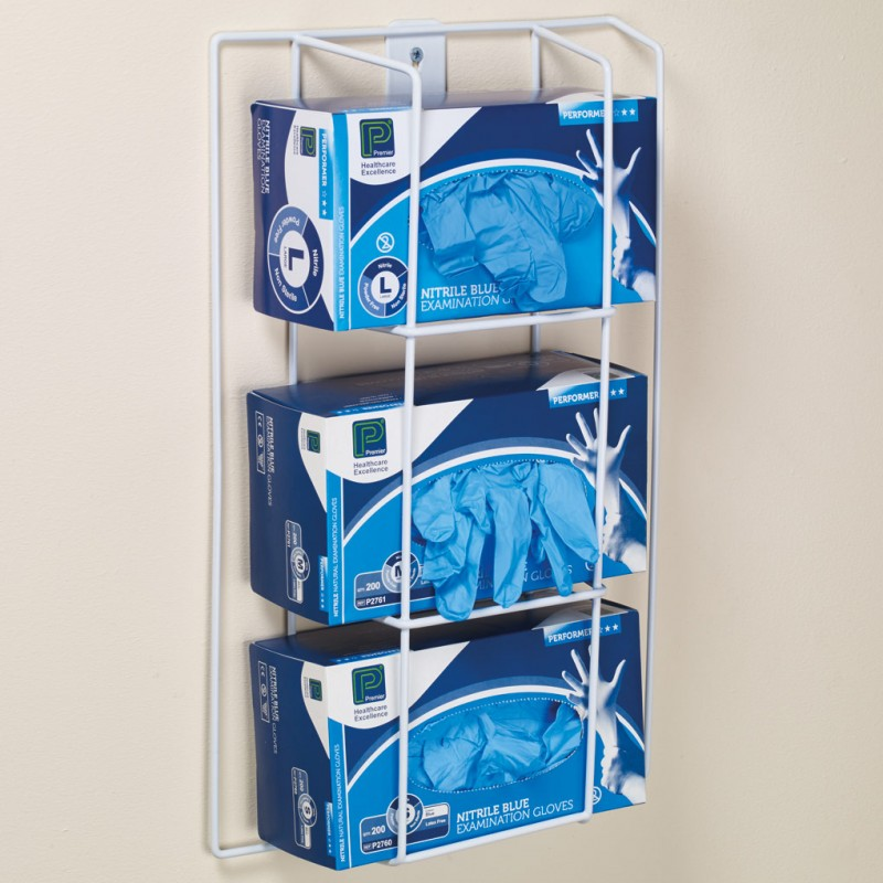 Wall Mounted Glove Rack 3 Boxes