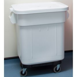 Huskee Bin with Lid and Wheels 140 Litres White