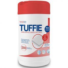 Vernacare Tuffie Hard Surface Disinfectant Wipes 1x200