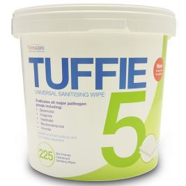 Tuffie 5 Universal Sanitising Wipes Bucket 1x225
