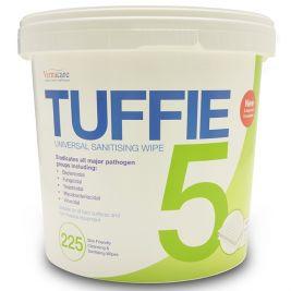 Tuffie 5 Universal Sanitising Wipes Bucket 1x225