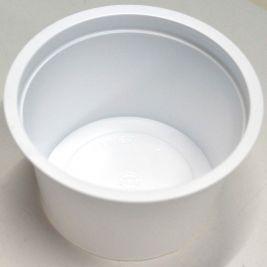 Denture Pot White 250ml 1x100