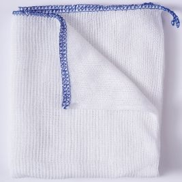 Bleached Dishcloth Blue 1x10