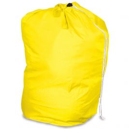 Drawstring Laundry Bag Yellow