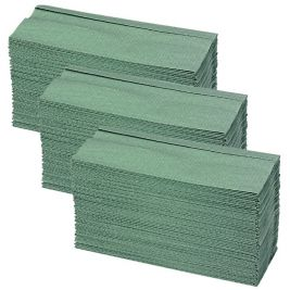 C-fold Hand Towel 1 Ply Green 16x164