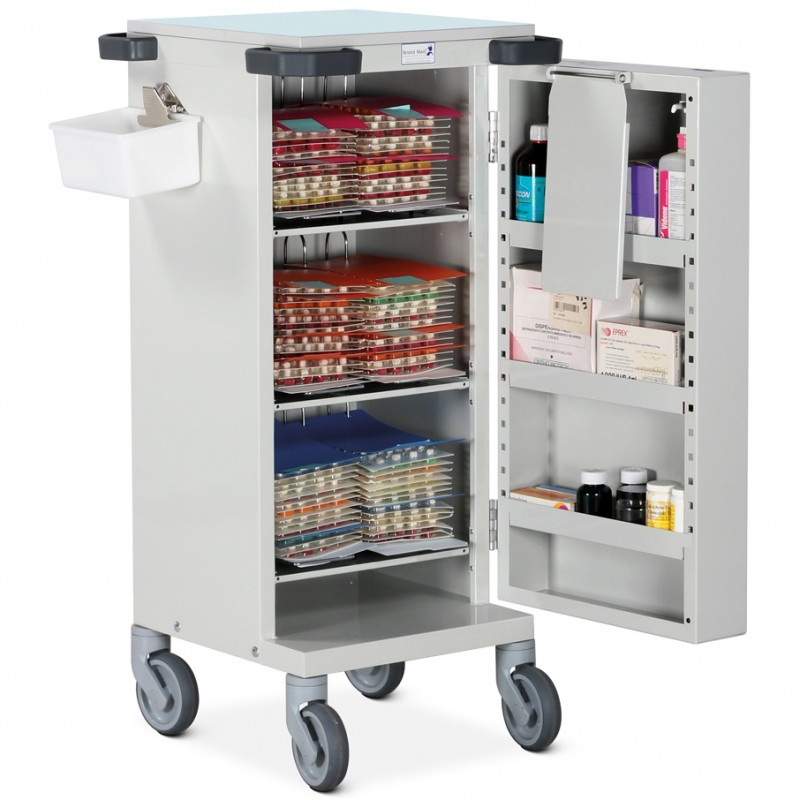 Pharmacy Trolley Blister Pack (MDS) Single Door Six Frames