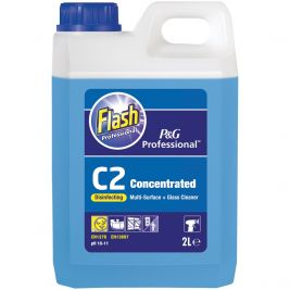 Flash Professional C2 Multi Surface & Glass Cleaner 2x2l