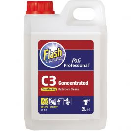 Flash Professional C3 Bathroom Cleaner 2 Litres 1x2