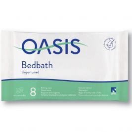 Oasis Bed Bath Wipes Unscented 1x8