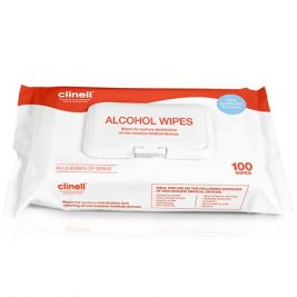 Clinell Alcohol Wipes Large 1x100