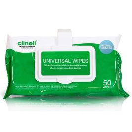 Clinell Universal Wipes Clip Pack 1x50