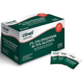 Clinell Alcoholic 2% Chlorhexidine Wipes 1x200