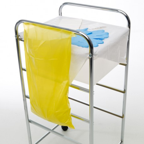 POLY DISPOSABLE BAG W/ADH YELLOW
