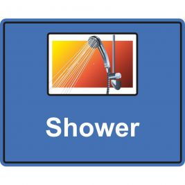 Eyeway Shower Sign