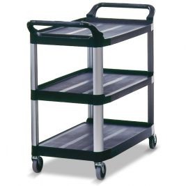Xtra Utility Cart Open Sided Black