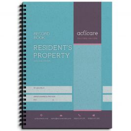 RESIDENTS PROPERTY RECORD BOOK